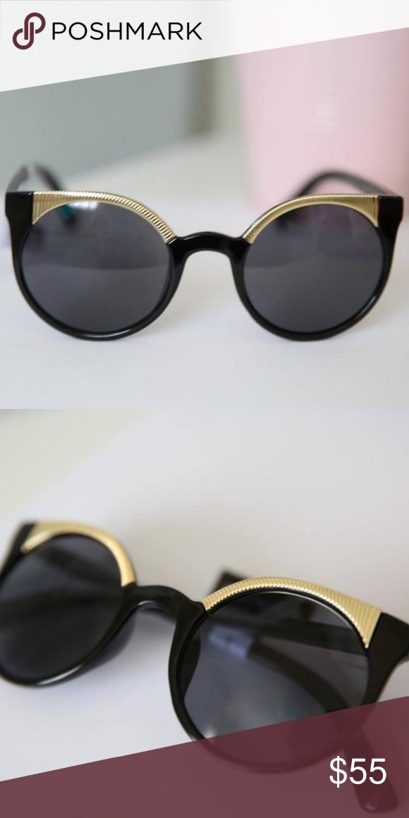 96961c66423 Black and Gold PERVERSE Sunglasses
