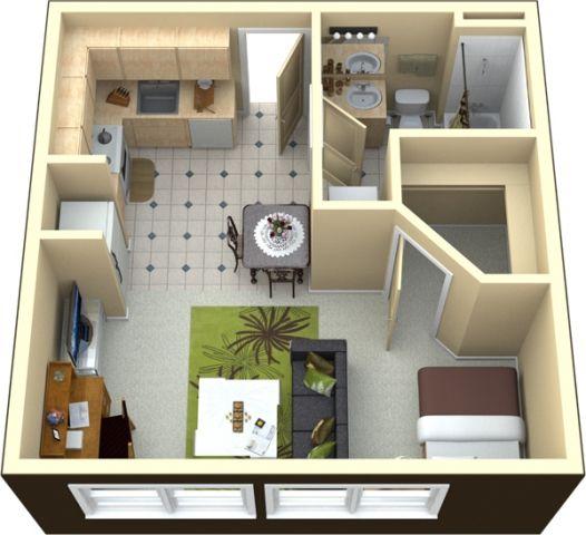 400 Square Foot Studio Decorating A Studio Apartment 400 Square ...