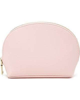 FOREVER21 FOREVER21 Light Pink Faux Leather Makeup Bag from .