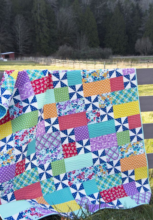 Playful 2 Pattern in Hello Jane fabrics