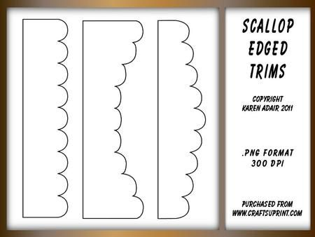 photograph about Scalloped Edge Template Printable known as Scallop Edged Border Styles - Templates stencils Form
