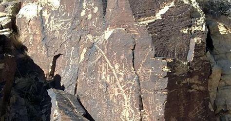 petroglyphs at Parowan Gap, Utah