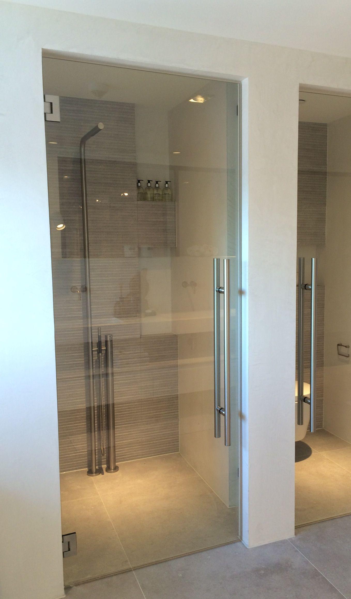 Badkamer douche glazen deur   Bathrooms   Pinterest