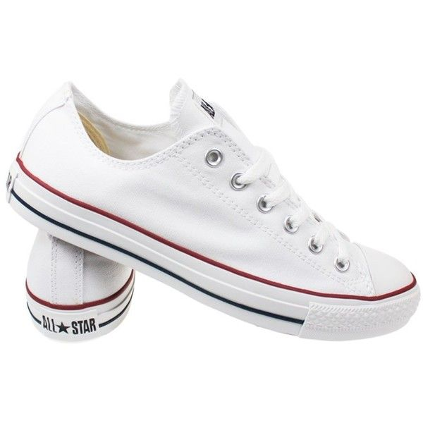 c29d9e96c63 Converse All Star Chuck Taylor Core Ox Unisex Optical White Canvas... ($65)  ❤ liked on Polyvore