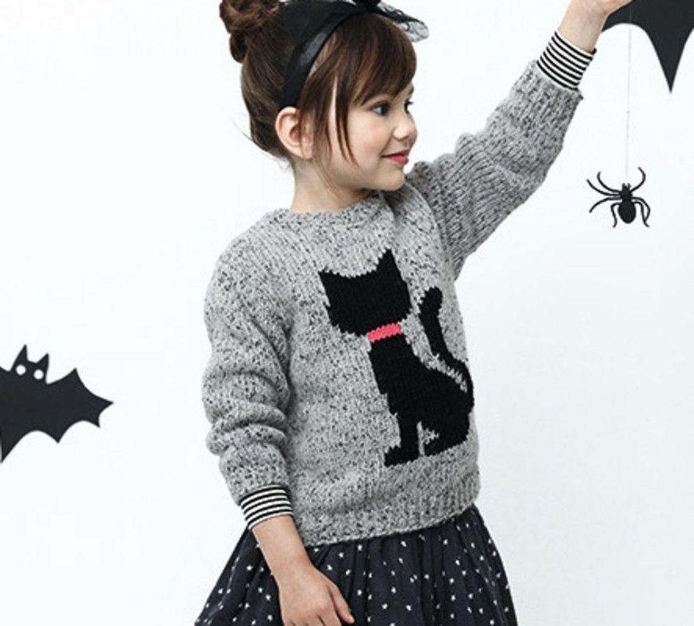 Modèle pull chat enfant - Modèles Enfant - Phildar   vêtements chat ... 7663654377d
