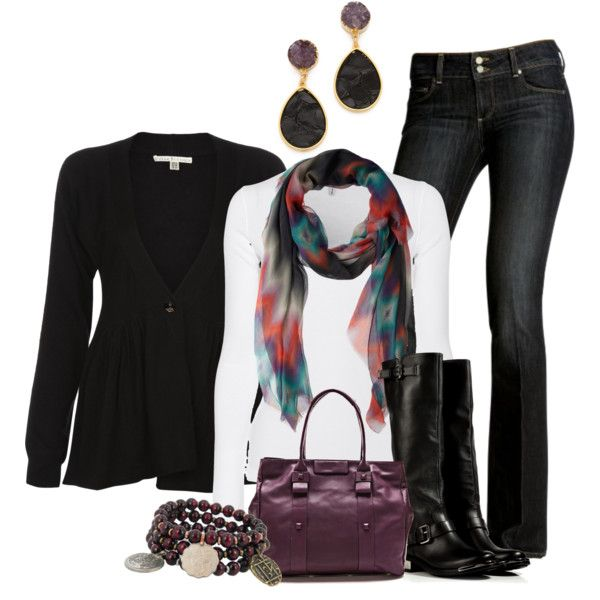 Black and Plum, created by smores1165 on Polyvore