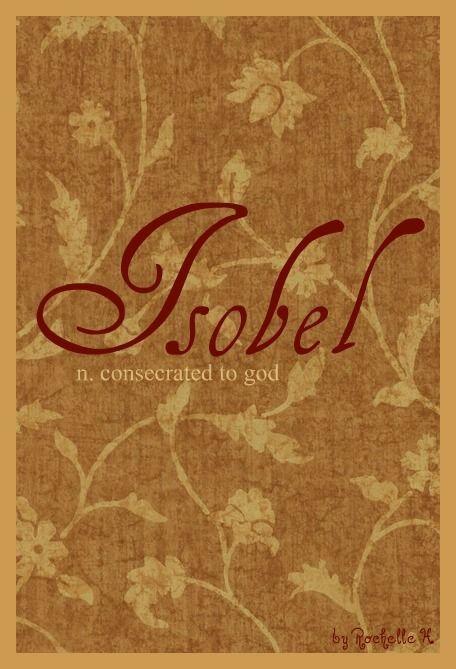 Isobel spelling