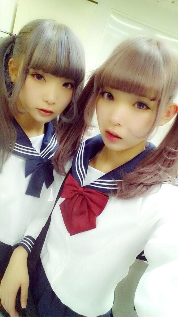 mim & mam #japanese #fashion #双子 #モデル #セーラー服