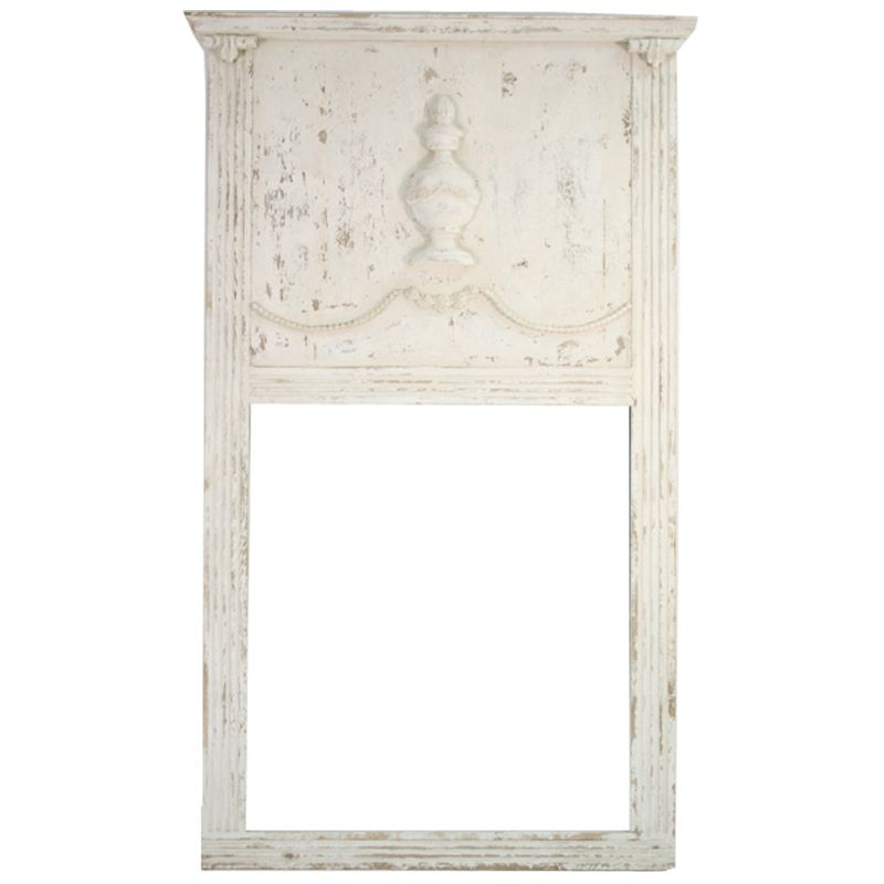 White Distressed French Mirror Trumeau Style French Shabby Chic Furniture Vintage French Furniture French Style Furniture