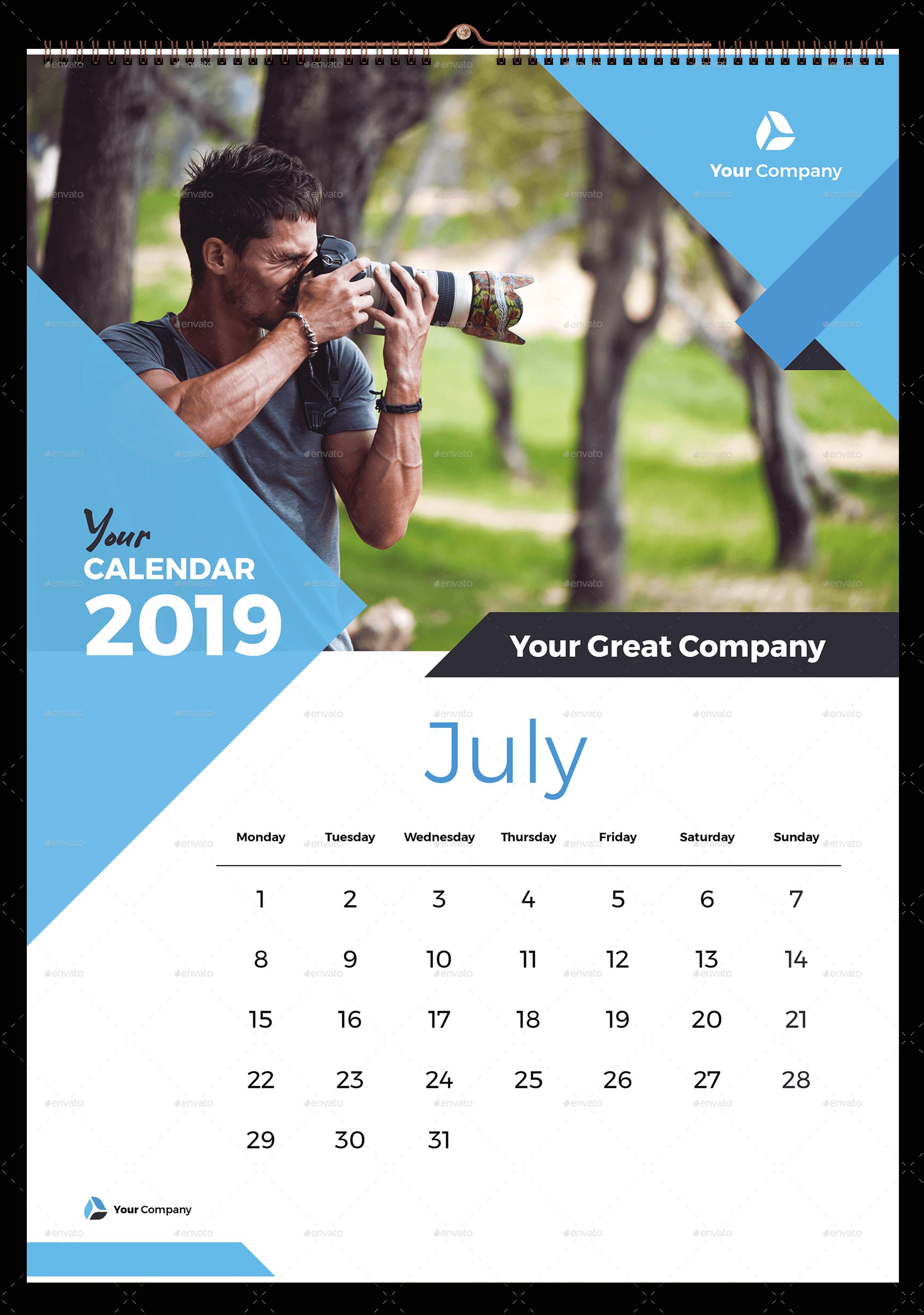 Wall Calendar 2019 Wall Calendar Kalender Desain