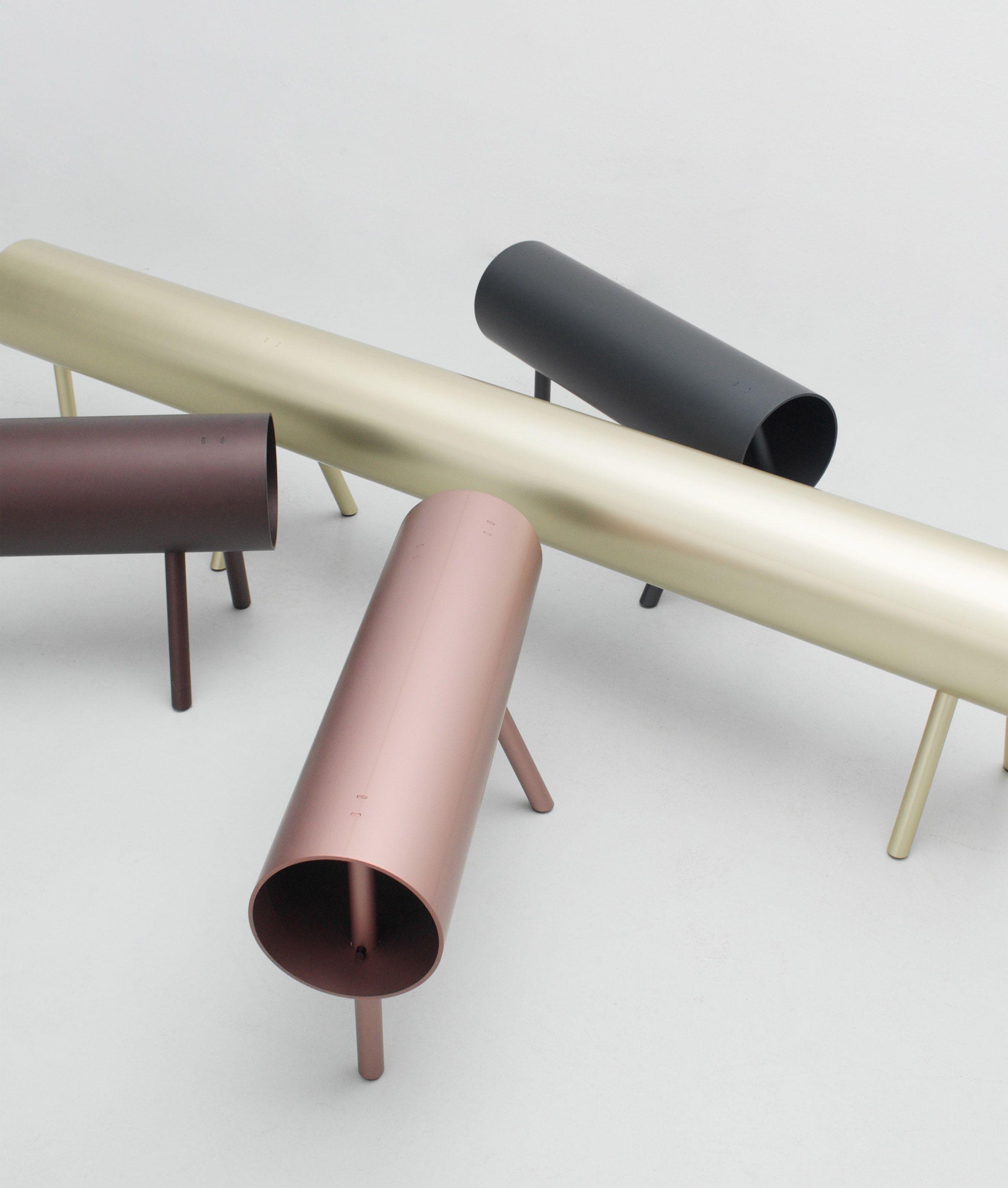 Os Oos Creates Sawhorse Inspired Furniture Using Aluminium Pipes  # Muebles Paulo En Leon