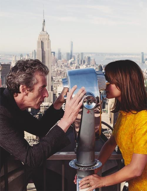 Peter Capaldi and Jenna Coleman in New York during the Doctor Who World Tour