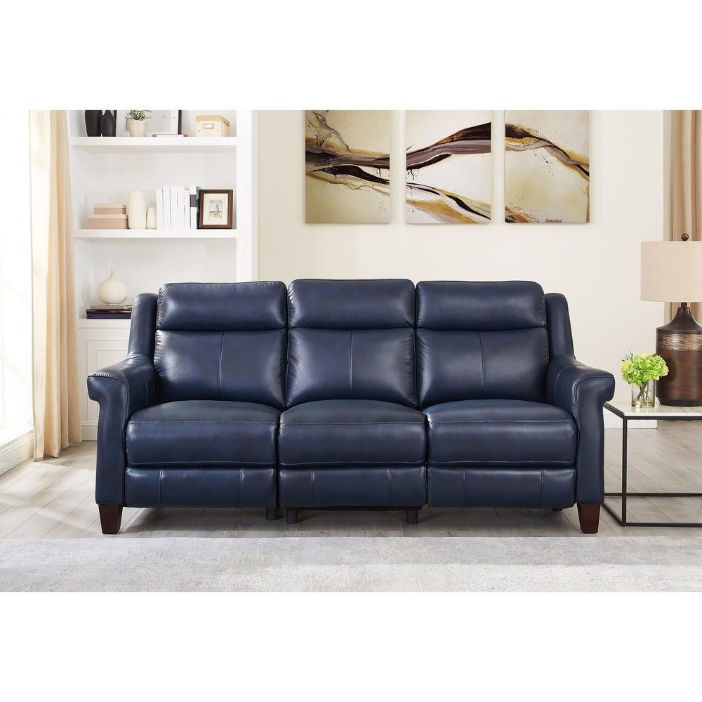Nesco Leather Power Reclining Sofa with Adjustable ...