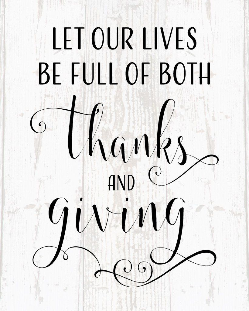 Let our lives be full of thanks and giving canvas wall decor let our lives be full of thanks and giving wood sign or canvas wall decor kristyandbryce Choice Image