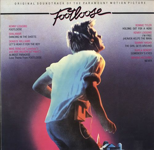 Another classic 80s soundtrack. Kenny Loggins hit it big with Footloose and I'm Free.