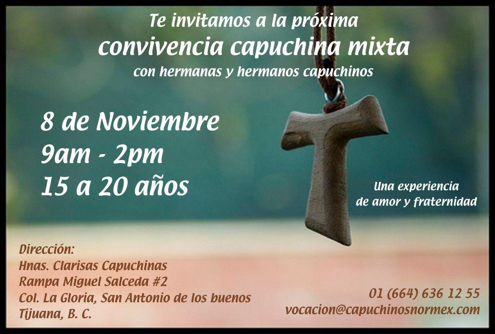 ¿Vives en Tijuana o alrededores? Participa en la próxima convivencia capuhina
