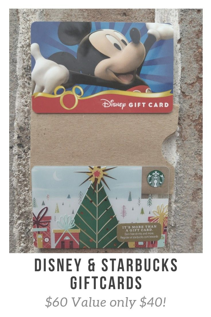 No convience fees disney card 50 starbucks card 10