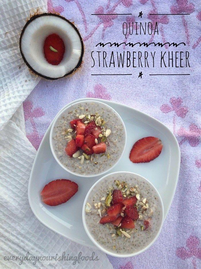 Quinoa Strawberry Kheer