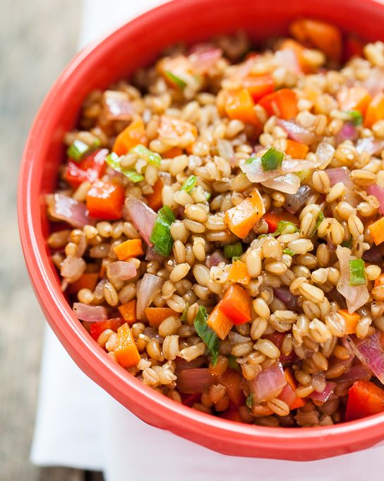 Wheatberry Salad Recipe Farro Salad Salad And Potlucks
