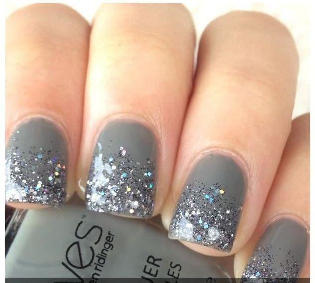 Stylish Gray Nail Design using Motives Nail Lacquer(Swagger). Click to Order! #Shop #NailArt #Design