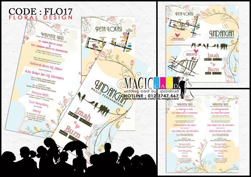 Rekaan Kad Kahwin Dalam Koleksi Floral Oleh Magiccard Enterprise Page 2 3 Kad Kahwin Design Map