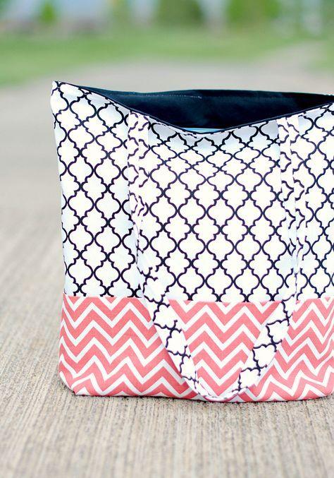 bolso-tote-bag-costura-facil | Sewing Ideas | Pinterest | Costura ...