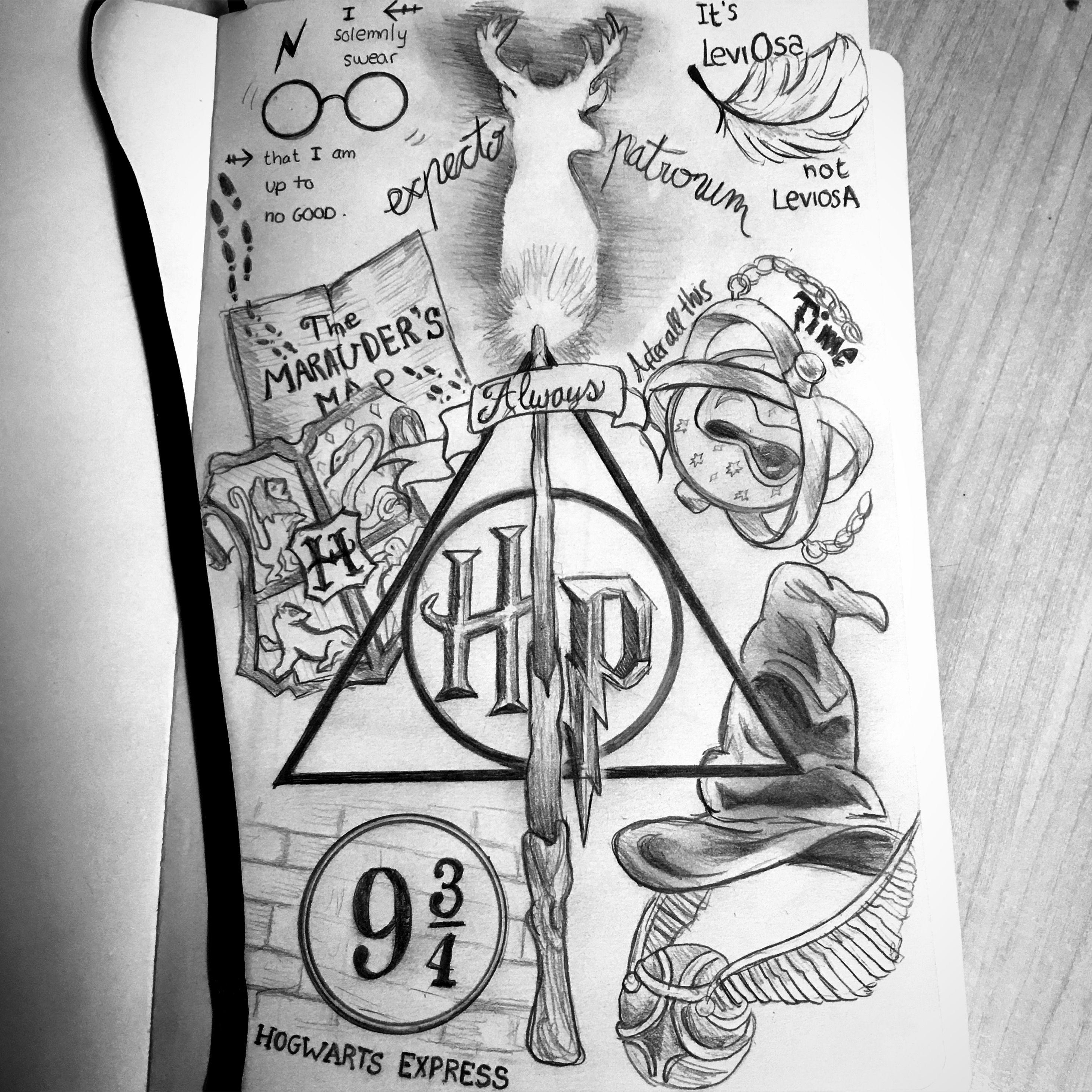 Harry Potter Instagram Draw Mar Harrypotterfacts Harry Potter Journal Harry Potter Tattoos Harry Potter Kunst