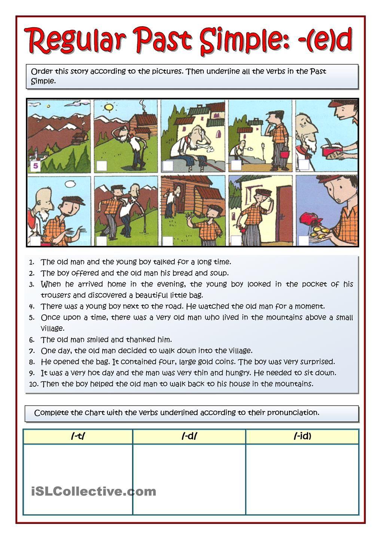 The Old Man Story Ed Past Pasado Simple Ingles Frases Basicas En Ingles Material Escolar En Ingles [ 1440 x 1018 Pixel ]