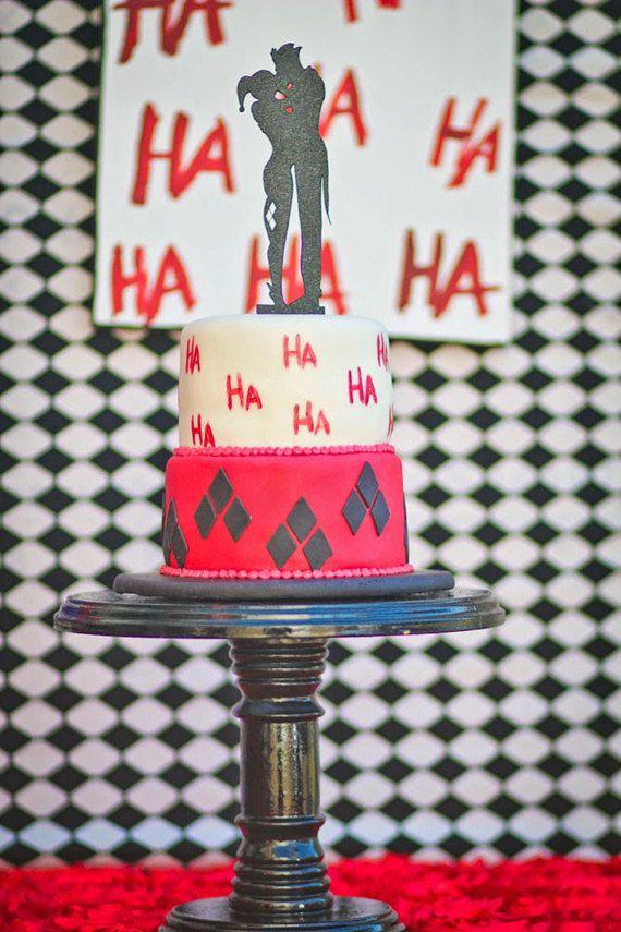 Wedding Cake Topper Joker Harley Quinn Silhouette Harleyquinn
