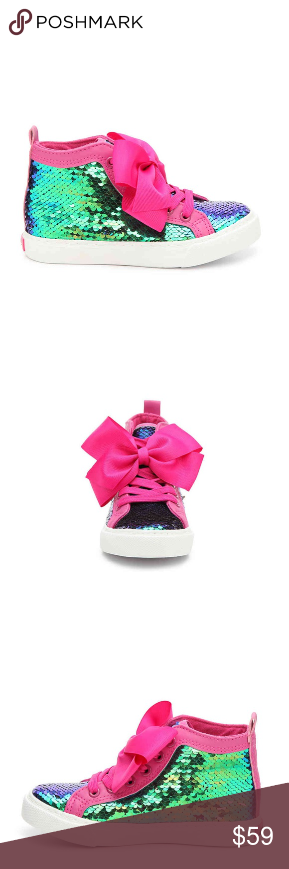 7fb13613c90 NIB Jojo Siwa Mermaid High Top Sneakers Girls Get her a glitzy pair of  sneakers that all her friends will want to copycat! The Jojo Siwa high-tops  from ...