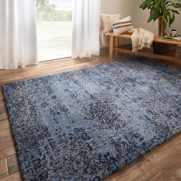 hastings light blue/ grey rug (5'3 x 7'7) by alexander home | grey