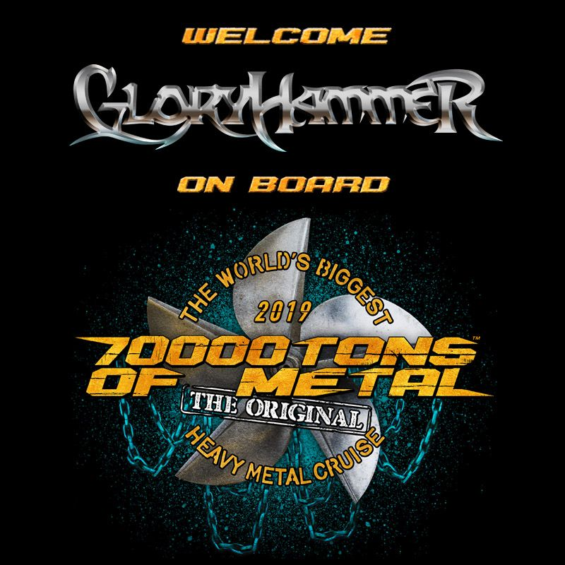 It S Time To Bring The Gloryhammer Down On 70000tons Of Metal The Original The World S Biggest Heavy Metal Cruise Will Heavy Metal Cruise Heavy Metal Bands