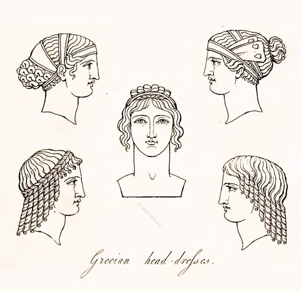 Ancient Greek Headdresses and Hairstyles.  8bf2147cf22