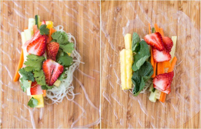 Summer Fresh Spring Rolls - Vegan + Gluten-free