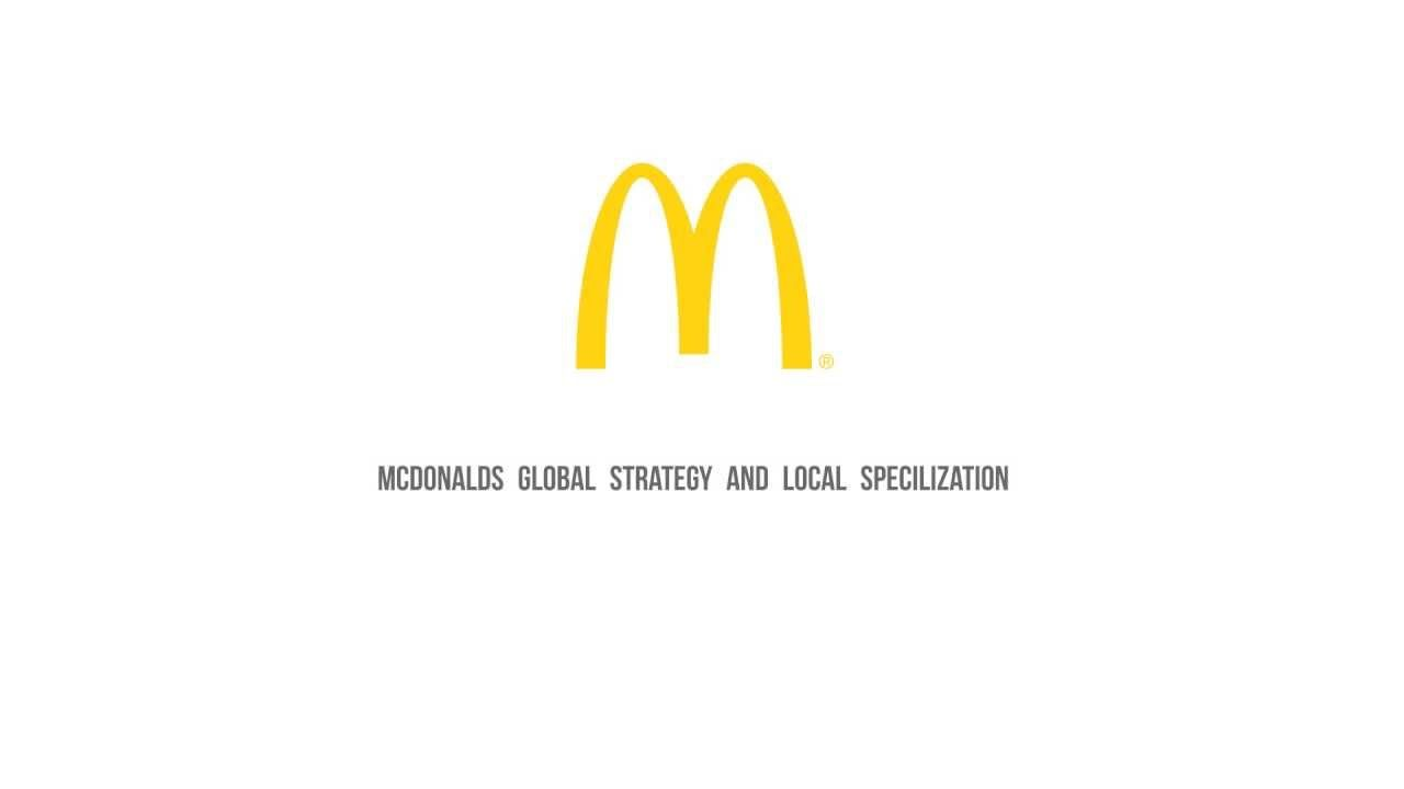 mcdonalds global strategy