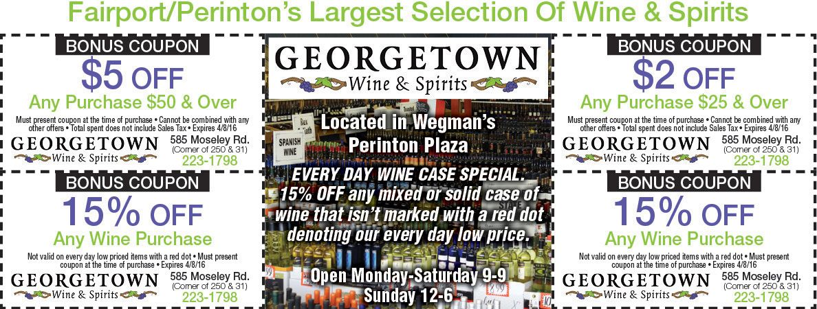 Georgetown Wine And Spirits For Savings On Your Purchase Rochester Ny Wine And Spirits Wine And Liquor Wine Case