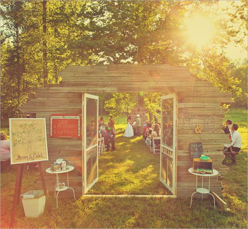 Outdoor Wedding Ceremony Doors: Entrance :) I Like This Idea For An Outdoor Wedding To