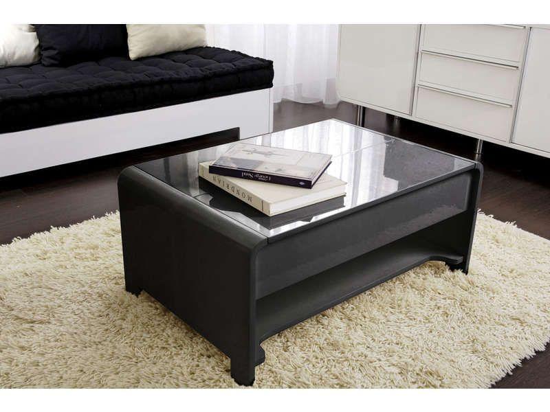 table basse coloris noir table basse