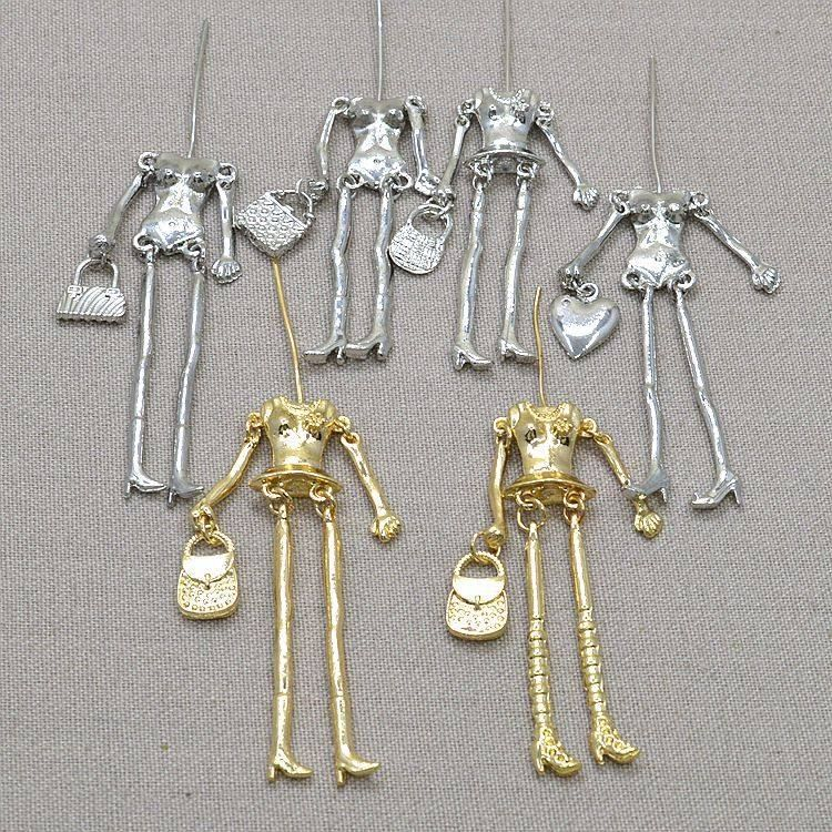 18Pcs 3Colors Charm Human Skeleton Body DIY Dolls Pendant Jewelry Findings