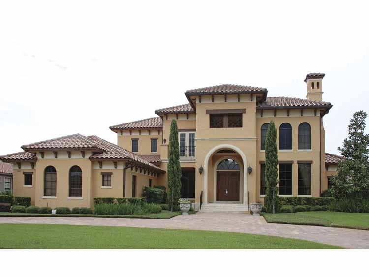 mediterranean modern house plan with 5921 square feet and