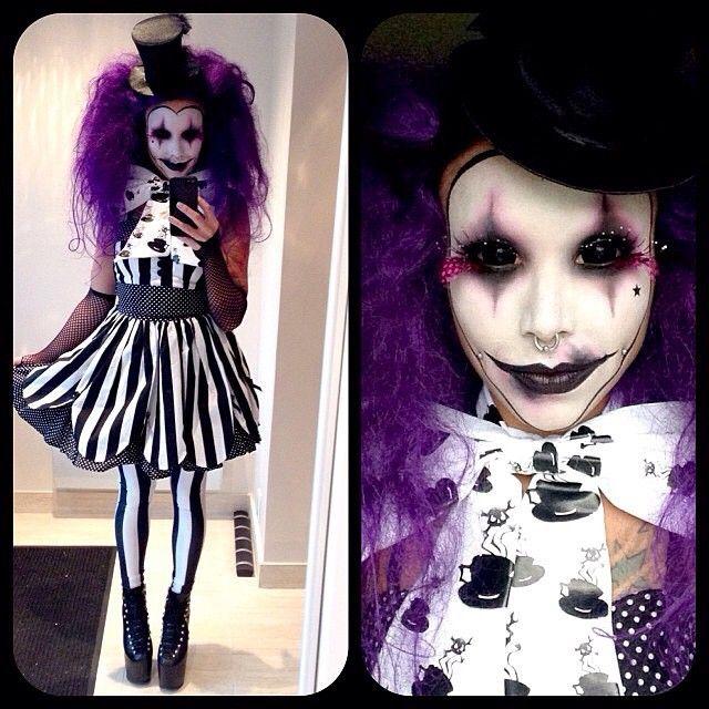 Creepy Cool Halloween Makeup Inspiration - Source Instagram #clown - clown ideas for halloween