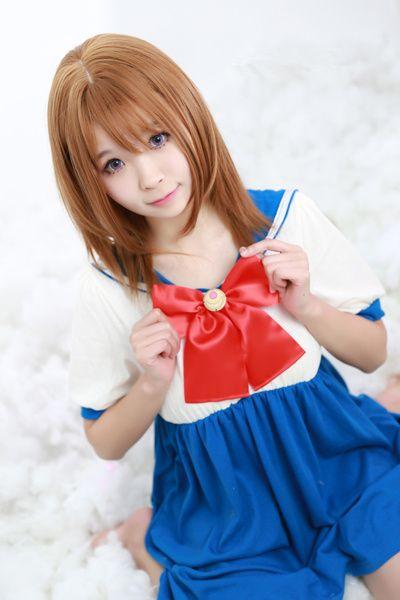 Sailor moon home dress pajamas modal elastic cotton short sleeves dress free shipping
