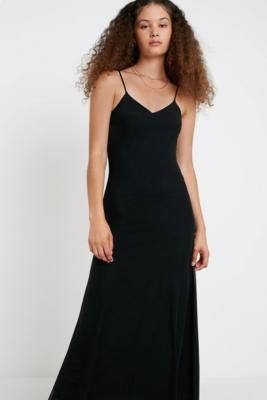 UO Black Mesh Maxi Dress - black S at Urban Outfitters #blackmaxidress