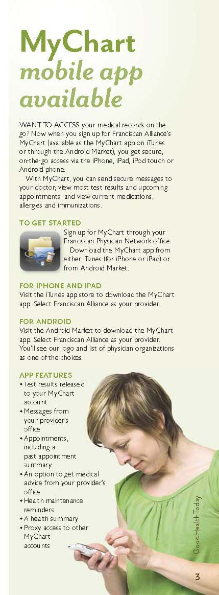 MyChart Mobile App now available to help you manage your
