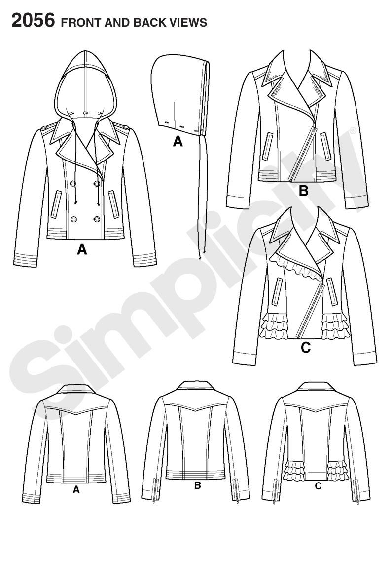 2056 Misses\' Jackets. SUEDEsays Collection. Simplicity sewing ...