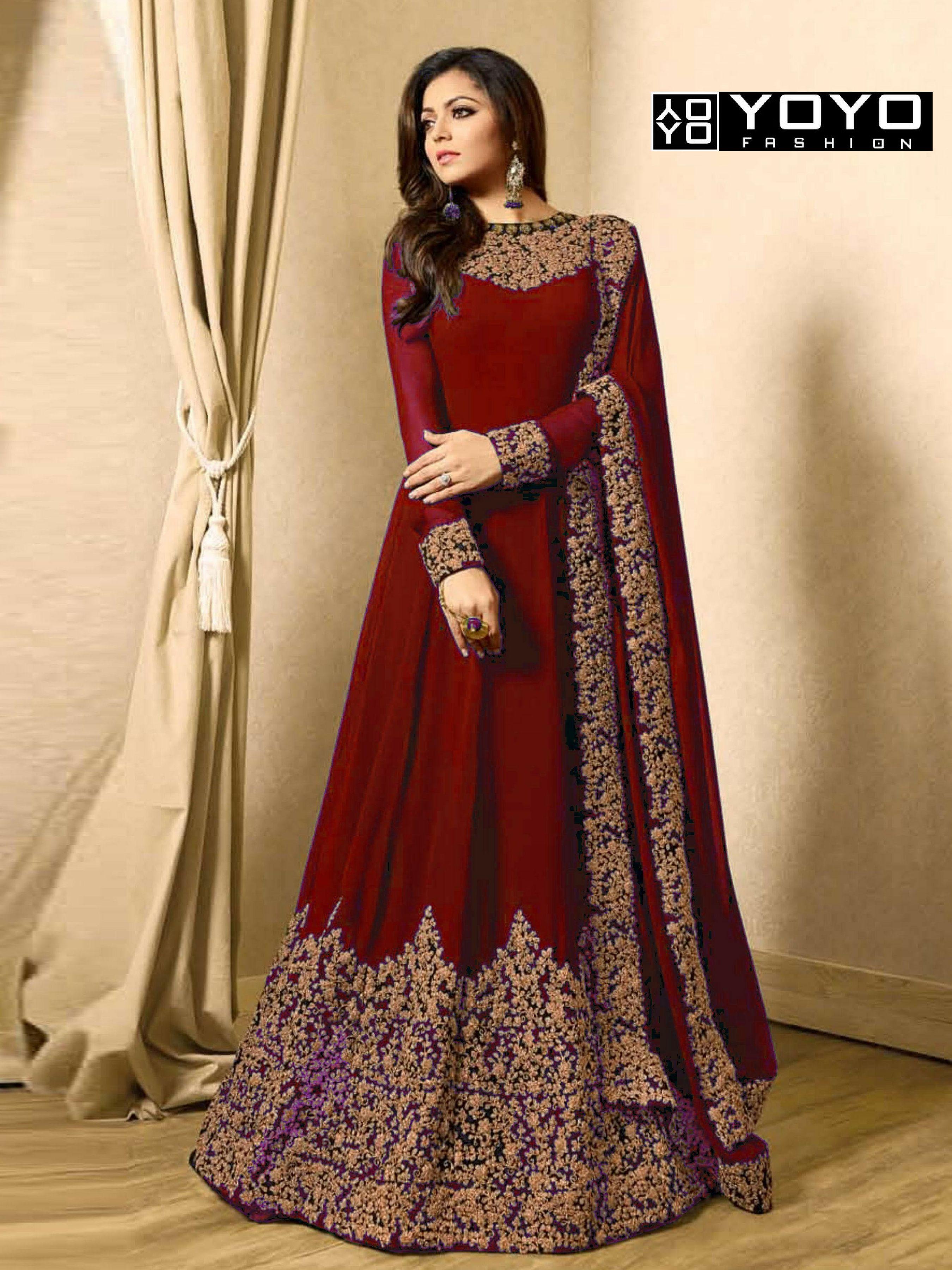 10eb32ad1bcb Exceptional attractive Anarkali salwar kameez for party wear and wedding  wear at  YOYOFashion.Newly