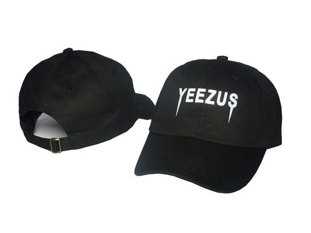 6269142e9ddf0 Black Letter Yeezus Hat Kanye West Yeezy Duck Season 1 100% Cotton Chapeau  Strapback Gorras 6 Panel Hat Sunhat Street Hip Hop