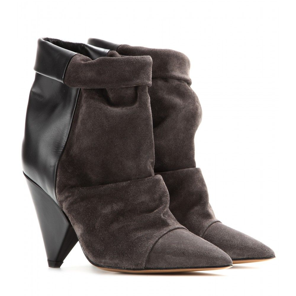 mytheresa.com - Andrew leather and suede boots   Isabel Marant