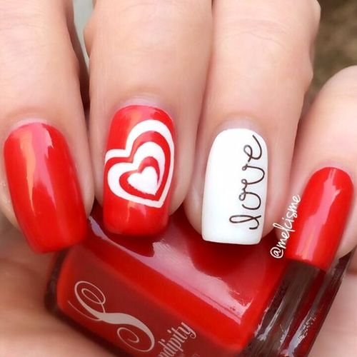 17 Red Hot Valentine S Day Nails For 2018 Nail Designs Pinterest