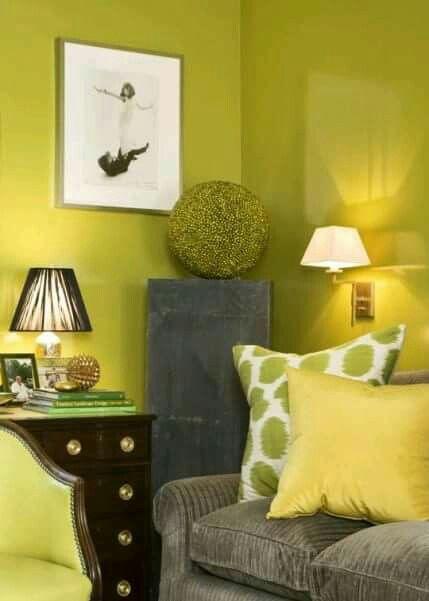 Cuartos Color Verde Limon
